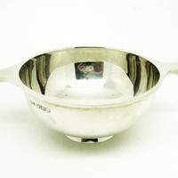Solid Silver Quaich, Sterling, English, Walker & Hall, Vintage, Hallmarked Sheffield 1926, REF:249O
