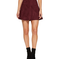 Jack by BB Dakota Hal Faux Suede Scuba Skirt