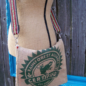 Organic, Boho Bag, Gunny Sack Messenger Bag, Cross Body Bag, Shoulder Bag, Burlap Bag, iPad Bag, Laptop Bag, Tech Bag,School Bag, Tribal Bag