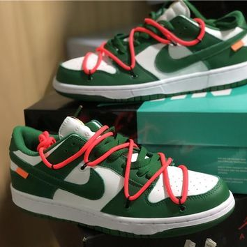 OFF-WHITE x Nike Dunk Low Womens Mens Fashion Sneakers Sport Shoes