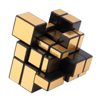 NEW 3x3x3 Compact and portable Mirror Blocks Silver Shiny Magic Cube Puzzle Brain Teaser IQ Kid Funny Worldwide Great gift