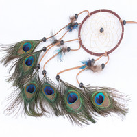 Peacock Dream Catcher Cars Decoration Home Decor [6282162886]