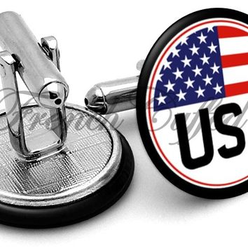 USA Badge Cufflinks