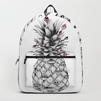 Ananas Pink Backpack by loujah