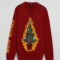 Volcom Knitted Light Up Christmas Tree Jumper at asos.com