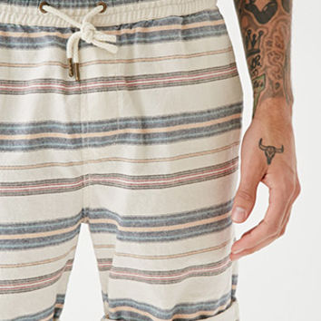Striped Drawstring Shorts
