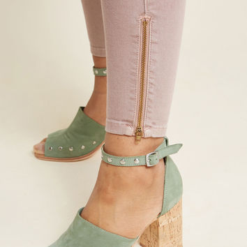Fresh Perspective Suede Block Heel