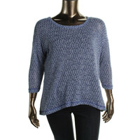 Nally & Millie Womens Knit Marled Pullover Sweater