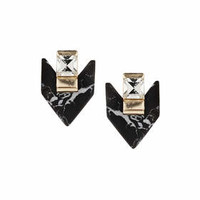 Onyx Arrow Studs - Black