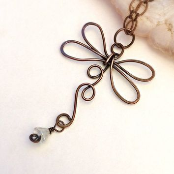 Dragonfly Pendant - Dragonfly Pendant Necklace