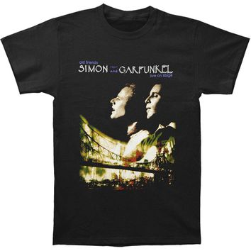Simon & Garfunkel Men's  2009 Old Friends Tour T-shirt Black Rockabilia