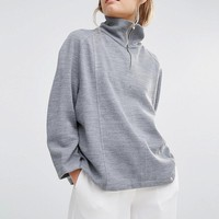 House of Sunny | House Of Sunny High Neck Jumper With Zip Detail at ASOS