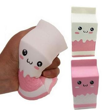 Squishy Slow Rising Milk Box, Foci Cozi Kawaii Squishy Charms, Hand Pillow Toy, Stress Relief Toy