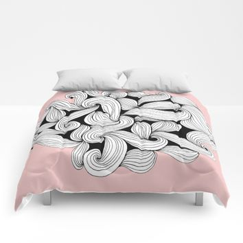 Open Minded / Rose Quartz Comforters by DuckyB
