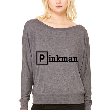 Pinkman WOMEN'S FLOWY LONG SLEEVE OFF SHOULDER TEE