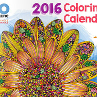 2016 Coloring Calendar by Design Originals