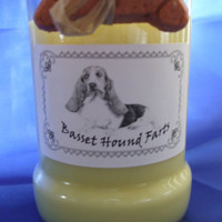 Basset Hound Farts Candle in a Recycled Liquor Bottle - 10oz