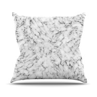 "Will Wild ""Marble"" White Gray Throw Pillow"
