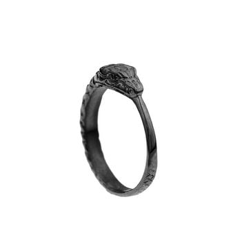 Mister Ouroboros Ring - Black