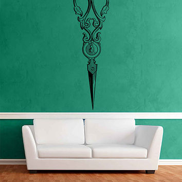 scissors Vintage Wall Decals Beauty Salon Decoration steampunk Wall Decal Hair Salon Wall Decals Hairstylist Decal barbershop Decals kik3350