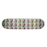 Abstract Boxes and Balls Skateboard Deck