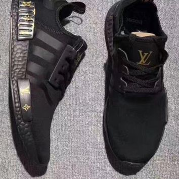 Adidas NMD x LV Louis Vuitton Women's Breathable Shock-Absorbing Running Sneakers F