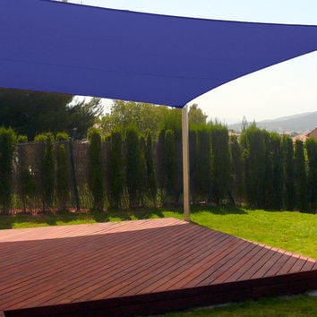 New Premium Clevr Sun Shade Canopy Sail 13'X10' Rectangle UV Outdoor Patio Blue