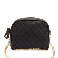 QUILTED PYRAMID STUD CROSS-BODY BAG