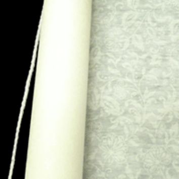 Aisle Runner with Lace Pattern- Wedding Decoration100' Ivory Rayon Fabric with Adhesive Strip