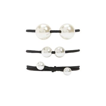 Faux Pearl Hair Tie Set