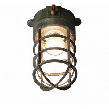 Industrial vintage bar counter outdoor bathroom explosion and water proof dock ceiling lamp light