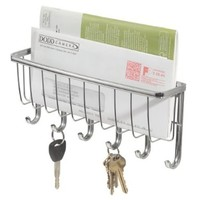 InterDesign York Wall Mount Storage, Key Rack, Chrome