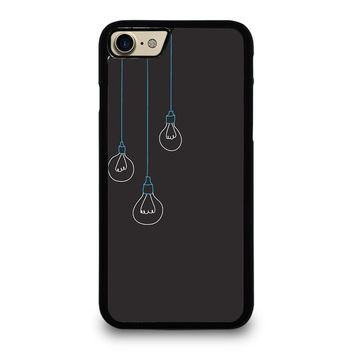 BLACK LIGHT BULBS MINIMALISTIC iPhone 7 Case