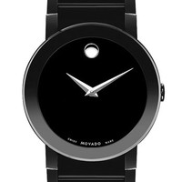 Men's Movado 'Sapphire' Watch, 40mm - Black