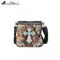 Montana West Camo and Turquoise Crossbody Purse
