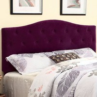 Belinda Purple Button Tufted Upholstered Full/Queen Headboard
