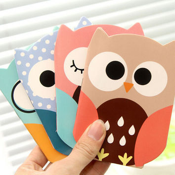 D49 Kawaii Owl Cute Planner Sticker Diary Notebook School Stationery Sticky Notes Notepad Post it Papelaria Filofax Papel