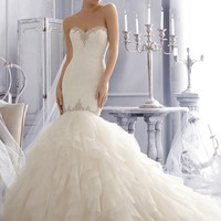 Mori Lee 2685 Ruffle Mermaid Wedding Dress