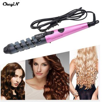 110-240V Electric Ceramic Hair Curler Pro Spiral Hair Roll Tongs Curling Iron Curl Wand Salon Hair Styling Tools Magic Styler