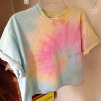 Pastel Tie Dye Cropped top