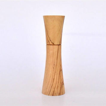 "Greek Olive Wood, Wooden Needle Holder, Holds up to 8 cm long Needles (3"" 5/32) Standing / Needle Case"