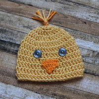 Newborn - Duckling Hat - Easter