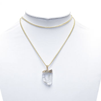 Double Chain Clear Crystal Choker