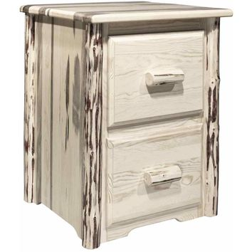 Montana Woodworks - Montana Collection 2 Drawer File Cabinet