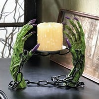 Witch Shackles Halloween Pillar Candle Holder