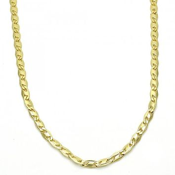 Gold Layered 04.213.0083.24 Basic Necklace, Polished Finish, Golden Tone