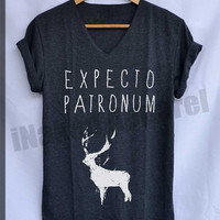Expecto Patronum Harry Potter Spell Magical Shirt V-Neck Unisex S M L