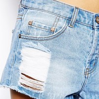 Glamorous Tall Ripped Denim Short