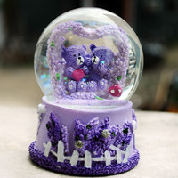 Creative Stylish Bright Colorful Couple Pale Violet Crystal Decoration Baby Lights [6282957510]