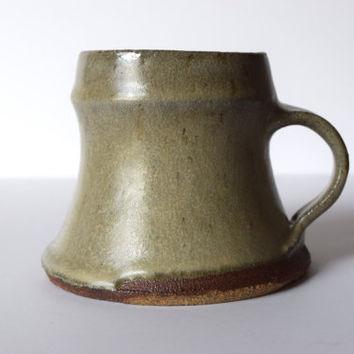 Handmade Coffee Mug with Feldspar Ash Glaze